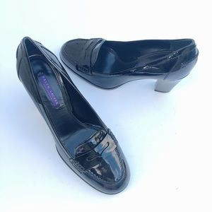 Ralph Lauren Purple Label Black Leather Heels 10B